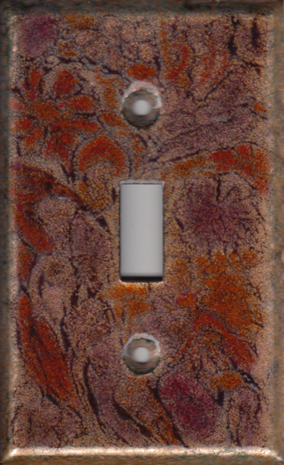 autumn colored decorative switch plate cover